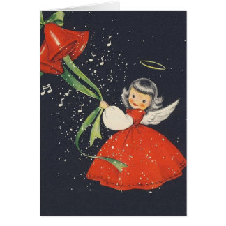 Vintage Angel Christmas Greeting Card