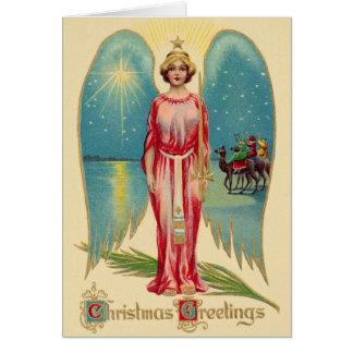 Vintage Angel Christmas Greeting Card