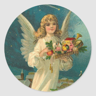 Vintage Angel Christmas Holiday Sticker