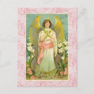 Vintage Angel Christmas Postcard postcard