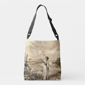 vintage angel crossbody bag