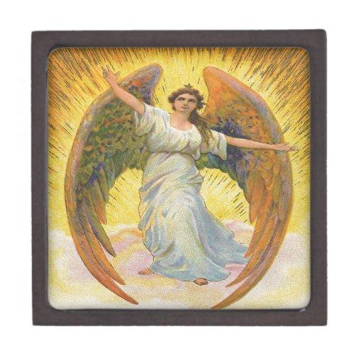 Vintage, ángel de la gloria caja de joyas de calidad