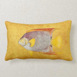 Vintage Angel Fish Antique Hawaiian Print Template Throw Pillows