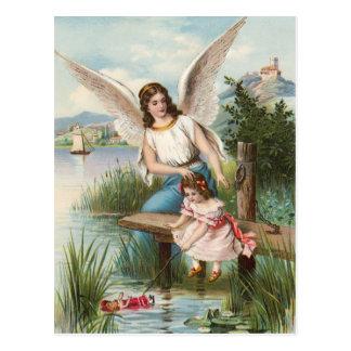 Vintage ángel gel de protección con chicas postales