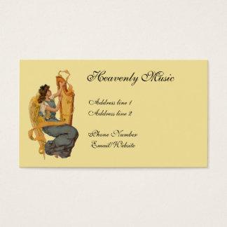 Vintage Angel & Harp Business Card