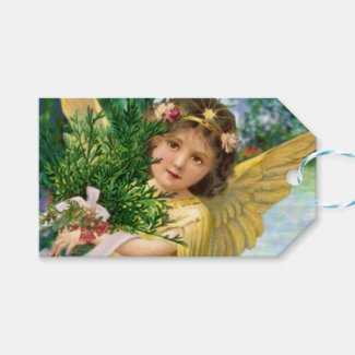 Vintage Angel In The Snow Christmas Gift Tags
