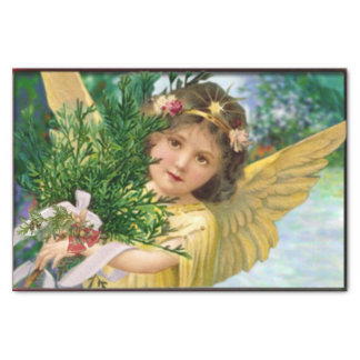 Vintage Angel In The Snow Christmas Tissue Paper