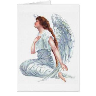 Vintage Angel in White Card