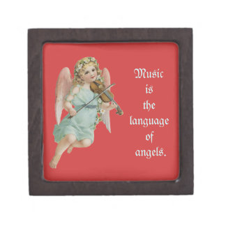 Vintage Angel Jewelry Box