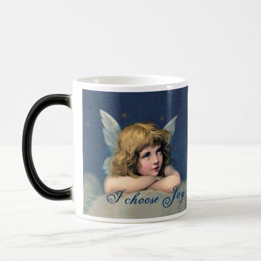 Vintage Angel Morphing Mug - Choose Love, Joy