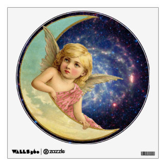 Vintage Angel on the Moon Wall Graphics
