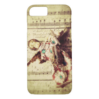 Vintage angel ornament on music iPhone 7 case