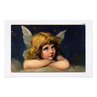 Vintage Angel painting stationery