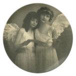 Vintage angel Plates