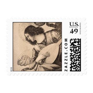 Vintage Angel Postage Stamps