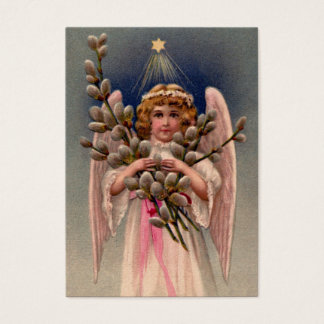 Vintage Angel Print Business Card