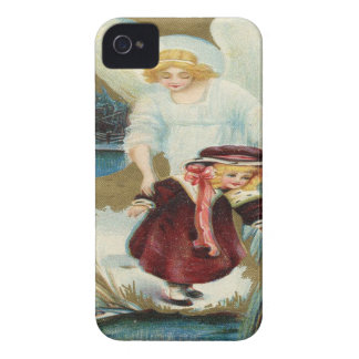 Vintage, Angel Protecting Little Girl iPhone 4 Case-Mate Cases
