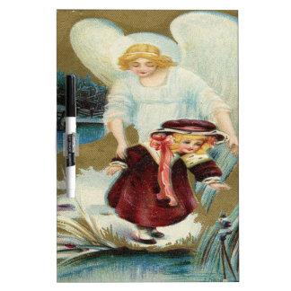Vintage Angel Protecting Little Girl Dry-Erase Boards