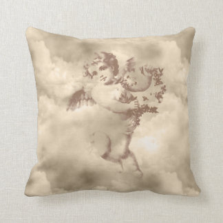 Vintage Angel Throw Pillow