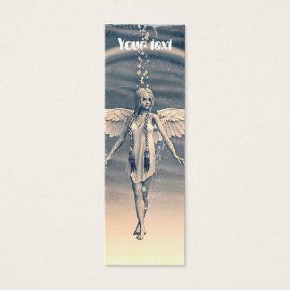 Vintage Angel under the Rainbow Mini Business Card