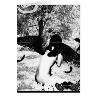 Vintage Angel ver. Black & White Card