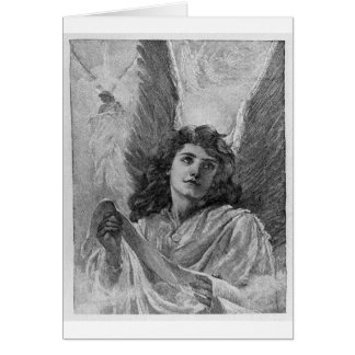 Vintage Angel Victorian Christmas Art Greeting Card