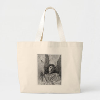 Vintage Angel Victorian Christmas Large Tote Bag