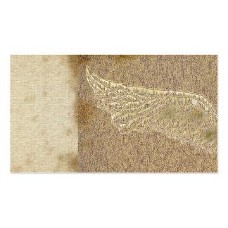 vintage angel wings grunge brown business cards