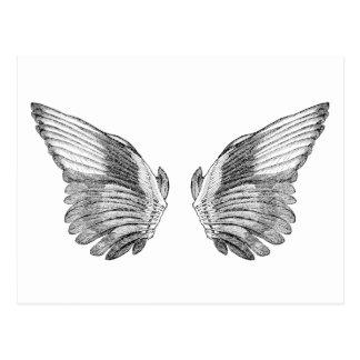 Vintage Angel Wings Postcard