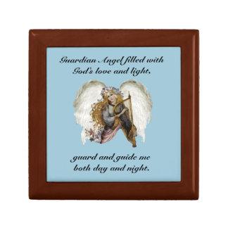 Vintage Angel With Prayer Jewelry Box