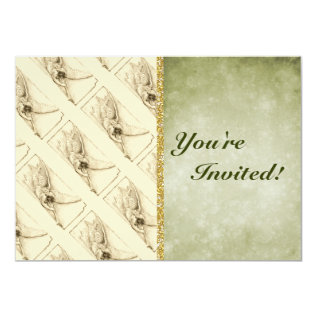 Vintage Angel With Trumpet Monotone Card at Zazzle