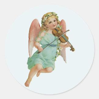 Vintage Angel with Violin Christmas Sticker