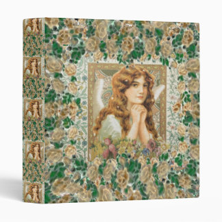 Vintage Angel with Yellow Roses Binder