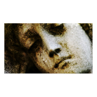Vintage Angelic Statue Face Grunge Business Card