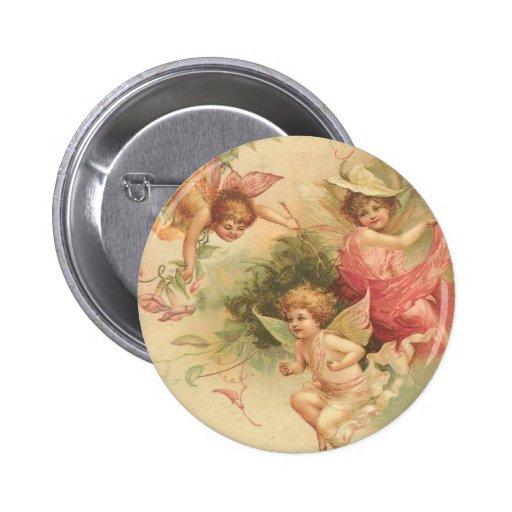 vintage angels 2 inch round button