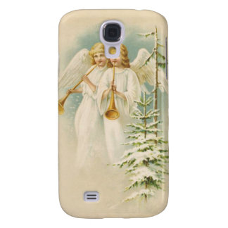 Vintage angels and trees christmas holiday case