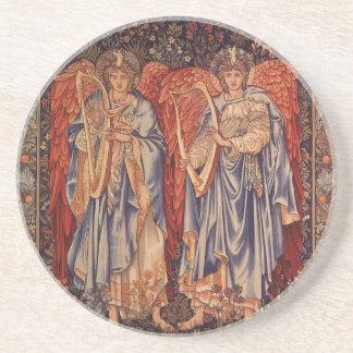 Vintage Angels, Angeli Laudantes by Burne Jones Sandstone Coaster