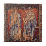 Vintage Angels, Angeli Laudantes by Burne Jones Small Square Tile