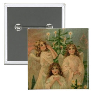 Vintage Angels Art Pin Victorian