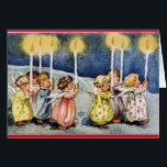 """Vintage Angels Birthday Card<br><div class=""""desc"""">Adorable,  vintage picture of angels carrying lighted candles graces the front of this birthday card. Inside message,  &quot;May angels light your way. Wishing you a Happy Birthday&quot;. A sweet greeting card for family,  friends and those angel lovers in your life!</div>"""