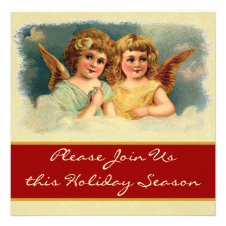 Vintage Angels Holiday Party Invitation