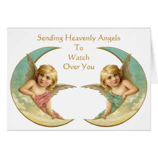 Vintage Angels In Your Time of Need Card