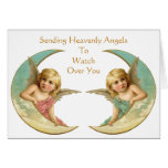Vintage Angels In Your Time of Need Greeting Card