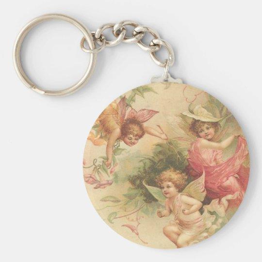 vintage angels keychain