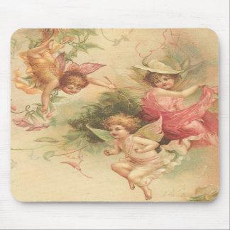 vintage angels mousepads