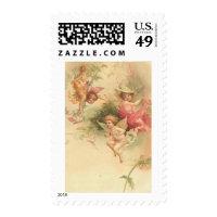 vintage angels postage stamps