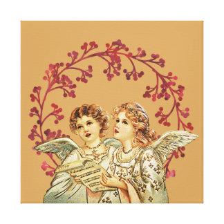 Vintage Angels Singing Canvas Print