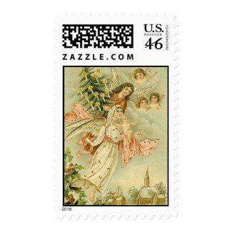 Vintage Angels with Tree Postage stamp