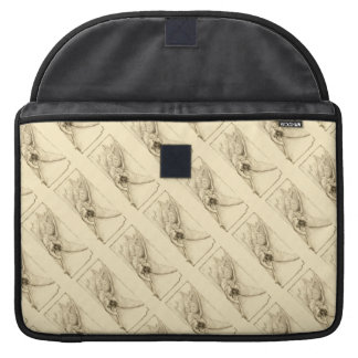 Vintage Angels With Trumpet Pattern Monotone Sleeves For MacBook Pro