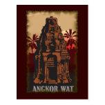 Vintage Angkor Wat Tarjeta Postal
